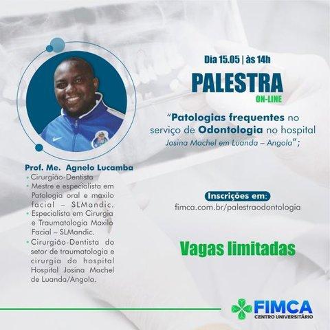Odontologia da FIMCA promove palestra online com dentista da Angola - Gente de Opinião
