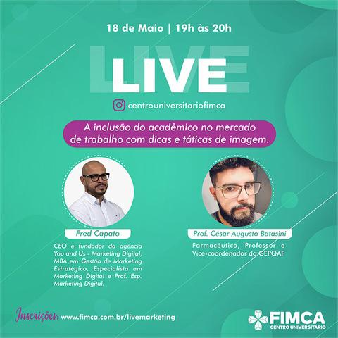 Curso de Farmácia da FIMCA promove live na próxima segunda - Gente de Opinião