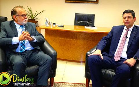 Programa Frente a Frente com o presidente da OAB Elton Assis