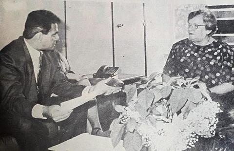 Anísio Gorayeb e a ex-prefeita de São Paulo, Luíza Erundina