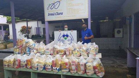 Fraternidade Espírita Irmã Clara auxilia na distribuição de alimentos da Campanha SOS.RO