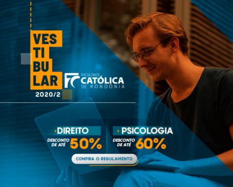 Faculdade Católica de Rondônia abre inscrições para o Vestibular 2020.2