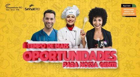 Senac Rondônia abre inscrições para mais de 700 vagas em cursos gratuitos