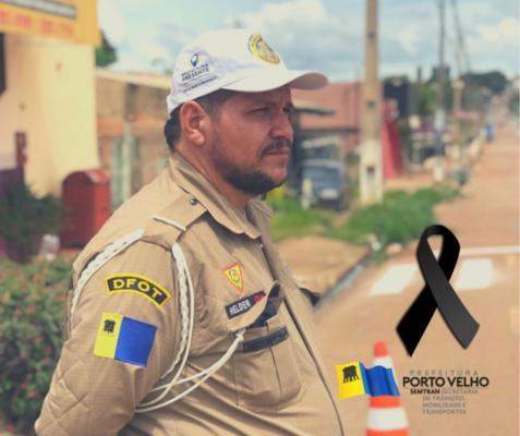 Nota de Falecimento do o Agente Municipal de Trânsito, Helder Santos Silva.