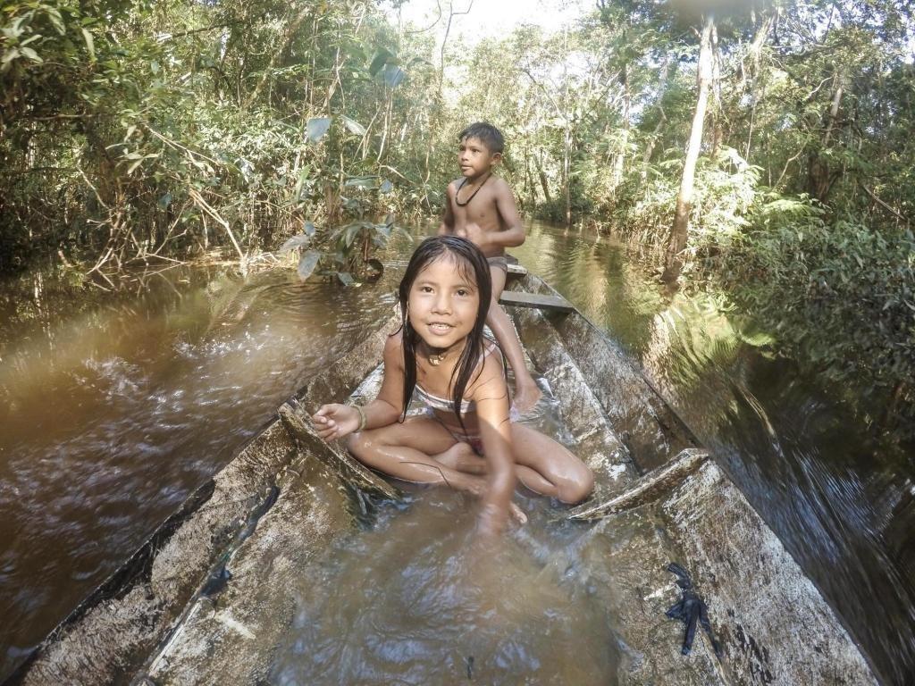 Índios crianças Juma rio Acuan Amazonas - Gente de Opinião