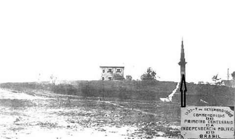 Obelisco na década de 40 em Porto Velho