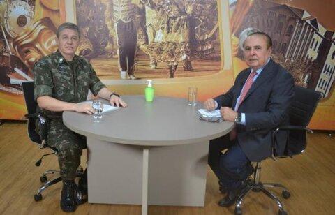Dr. Aparício Carvalho entrevista General Lima da 17° Brigada de Infantaria de Selva