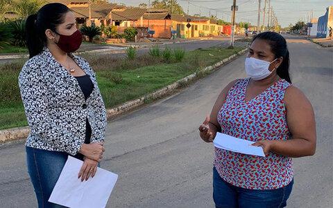 Vereadora Cristiane Lopes verifica demandas da Vila DNIT e cobra providências