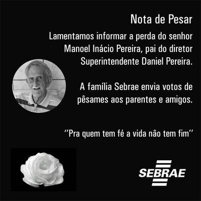 Nota de Pesar do Sebrae em Rondônia