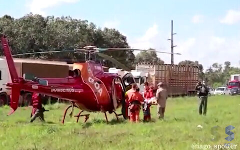 Acidente na BR 364 deixa uma pessoa gravemente ferida
