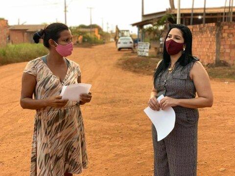 Cristiane Lopes cobra conclusão da drenagem e asfalto da rua Capão da Canoa