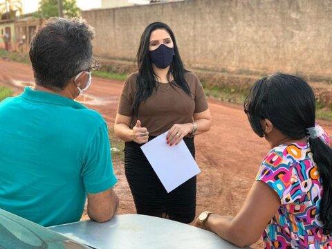 Cristiane Lopes continua cobrando melhorias para o bairro Lagoa