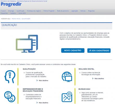 Sebrae em Rondônia disponibiliza cursos através do programa Progredir do Governo Federal