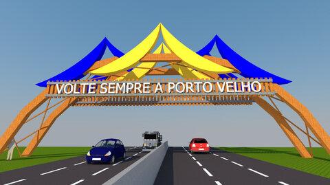Construção de pórticos nas entradas de Porto Velho será iniciada nos próximos dias