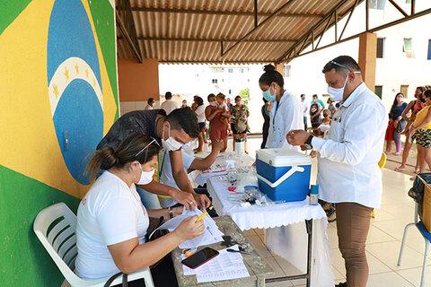 Moradores vacinados durante força tarefa