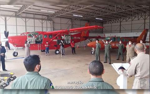 TJ do estado de Rondônia entrega UTI aérea ao corpo de bombeiros